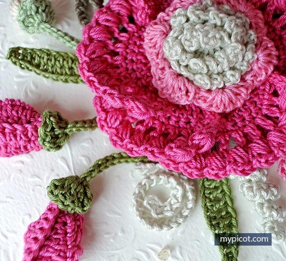 örgü çiçek Buketi Yapımı Mimuucom