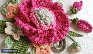 Örgü Çiçek Buketi Yapımı