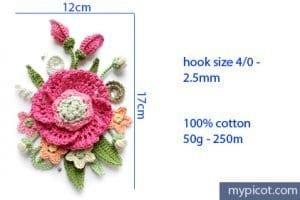 Örgü Çiçek Buketi Yapımı 47