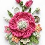 Örgü Çiçek Buketi Yapımı 48