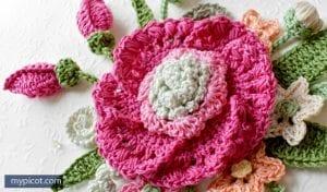Örgü Çiçek Buketi Yapımı 49