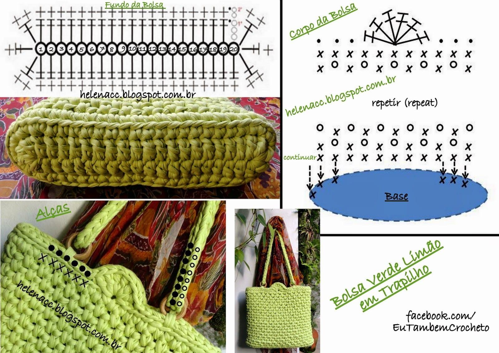 Вязаные сумки крючком: схемы и описания. 100 идей для вязание сумок 38