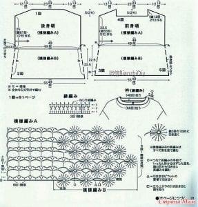 Şemalı Ajur Örgü Tekniği Modelleri 2