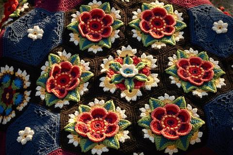 Frida'nın Çiçekleri Battaniye Yapılışı 33