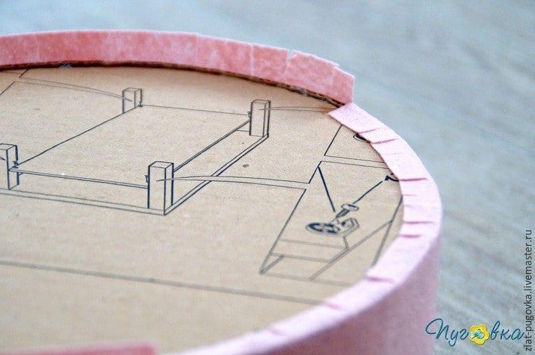 Keçeden Kek Fanusu Yapımı 4