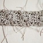 Kumaşla Motifli Örgü Çocuk Elbise Yapımı 14