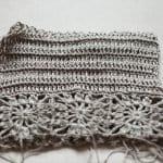 Kumaşla Motifli Örgü Çocuk Elbise Yapımı 20