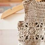 Kumaşla Motifli Örgü Çocuk Elbise Yapımı 22