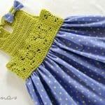Kumaşla Motifli Örgü Çocuk Elbise Yapımı 4