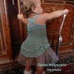 Örgü Bebek Elbisesi Tığ İşi 23