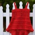 Örgü Bebek Elbisesi Tığ İşi 2