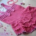 Örgü Bebek Elbisesi Tığ İşi 31