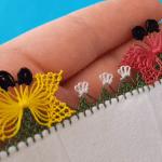 Plastik Çatalla İğne Oyası Kelebek Yapımı