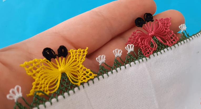 Çiçek Motifli Dağ Oyası Yapılışı Videolu Anlatımlı