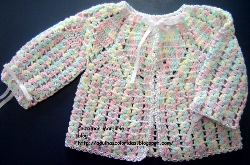 Tığ İşi Bebek Hırka Modelleri Anlatımlı 38