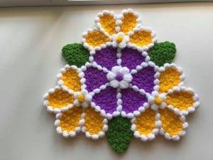 Çiçek Çarkı Lif Yapılışı
