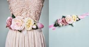 Çiçekli Elbise Kemeri