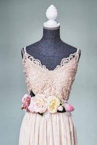 Çiçekli Elbise Kemeri 3