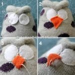 Çoraptan Baykuş Yapımı 10