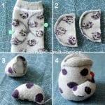 Çoraptan Baykuş Yapımı 15