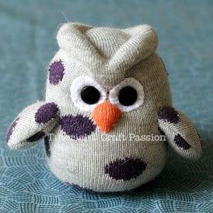 Çoraptan Baykuş Yapımı 16