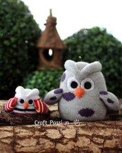Çoraptan Baykuş Yapımı