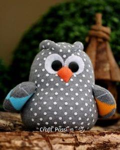 Çoraptan Baykuş Yapımı 1