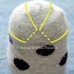Çoraptan Baykuş Yapımı 7