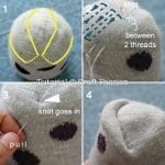 Çoraptan Baykuş Yapımı 8