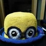 Kağıt İpten Minion Şapka Yapılışı 4