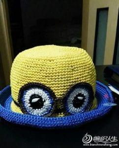 Kağıt İpten Minion Şapka Yapılışı