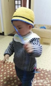 Kağıt İpten Minion Şapka Yapılışı 6