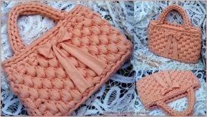 Penye İpten Fıstık Çanta Yapımı