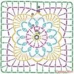 Tığ İşi Örgü Motif Şemaları 140