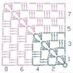 Tığ İşi Örgü Motif Şemaları 15