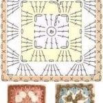 Tığ İşi Örgü Motif Şemaları 160