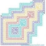 Tığ İşi Örgü Motif Şemaları 50