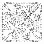 Tığ İşi Örgü Motif Şemaları 56