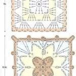 Tığ İşi Örgü Motif Şemaları 7