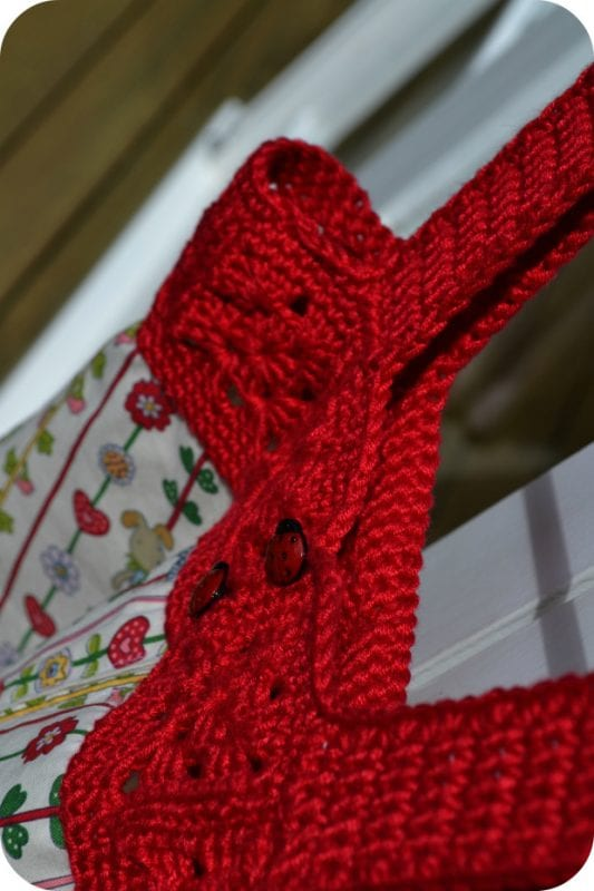Üstü Örgü Altı Kumaş Elbise Yapılışı 18