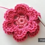 Çiçek Yapımı Örgü 15
