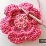 Çiçek Yapımı Örgü 16