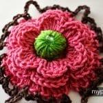 Çiçek Yapımı Örgü 26