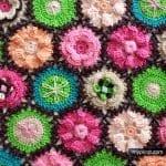 Çiçek Yapımı Örgü 37