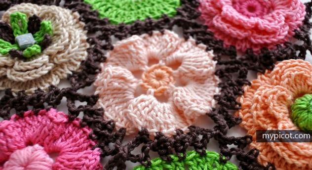 Çiçek Yapımı Örgü 40
