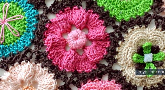 Çiçek Yapımı Örgü 42