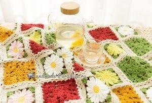 Çiçekli Bebek Battaniyesi Yapılışı 1