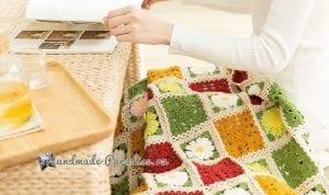 Çiçekli Bebek Battaniyesi Yapılışı 2