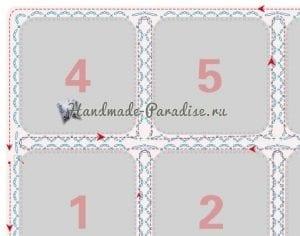 Çiçekli Bebek Battaniyesi Yapılışı 3