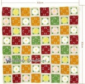 Çiçekli Bebek Battaniyesi Yapılışı 4